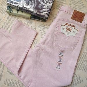 NWT LEVI'S 501 Skinny Stretch Raw Hem Jeans